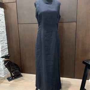 Merona Linen Navy Maxi Dress sleeveless XL lined